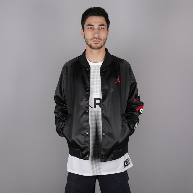 мужскую чёрную  куртку jordan jordan jumpman air stadium AO0444-010 - цена, описание, фото 1