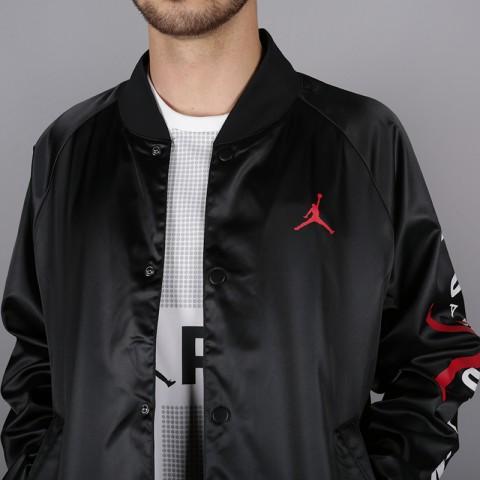 мужскую чёрную  куртку jordan jordan jumpman air stadium AO0444-010 - цена, описание, фото 2