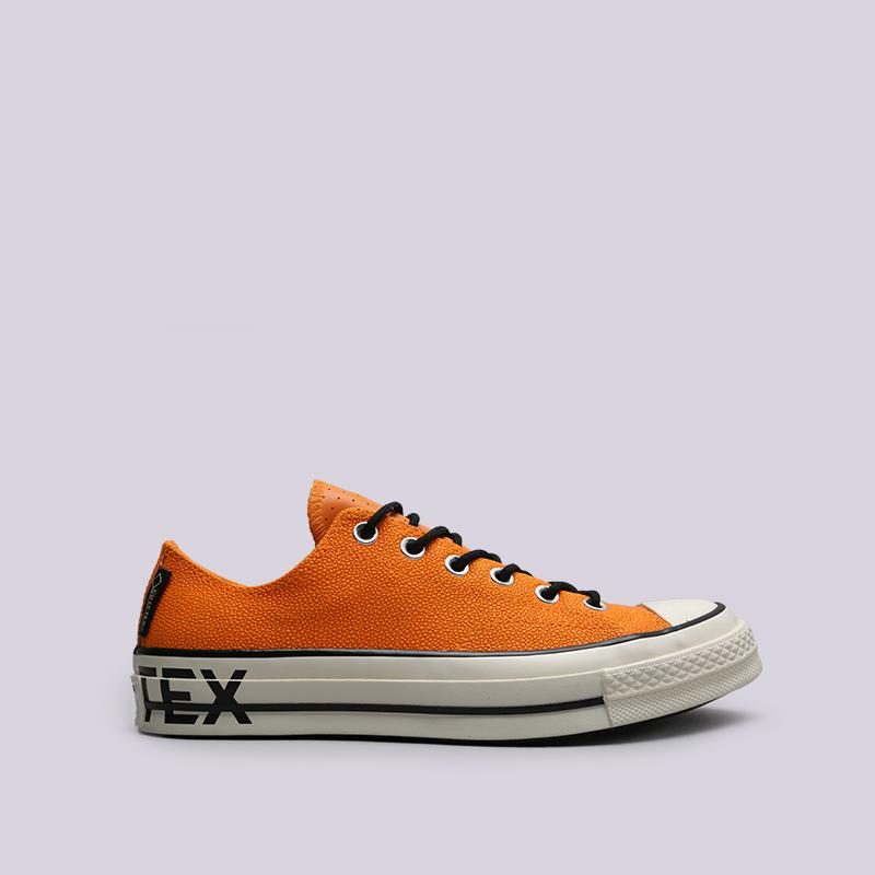 мужские оранжевые  кроссовки converse chuck 70 ox 163228 - цена, описание, фото 1