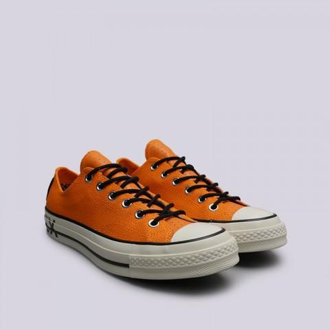 мужские оранжевые  кроссовки converse chuck 70 ox 163228 - цена, описание, фото 3