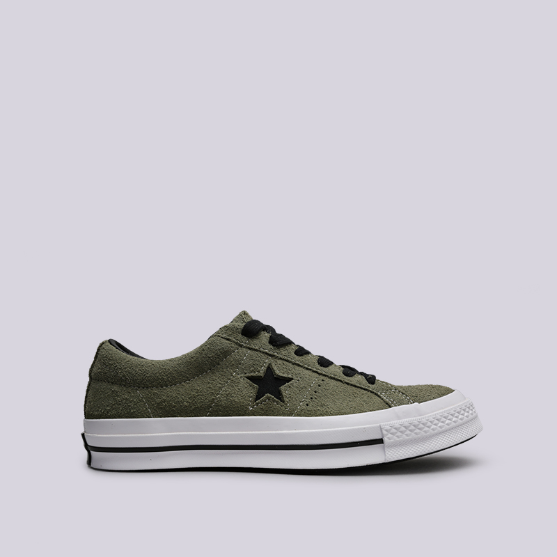мужские зелёные  кроссовки converse one star ox 163249 - цена, описание, фото 1