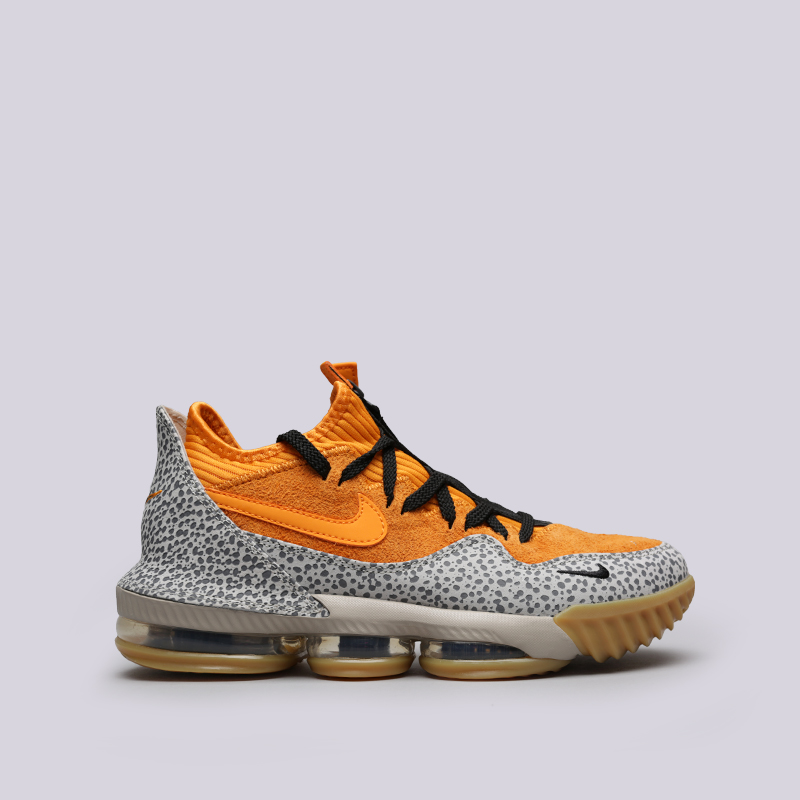 мужские оранжевые  кроссовки nike lebron xvi low ac CD9471-800 - цена, описание, фото 1