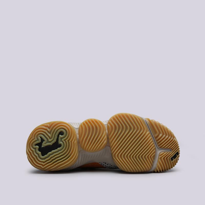 мужские оранжевые  кроссовки nike lebron xvi low ac CD9471-800 - цена, описание, фото 2