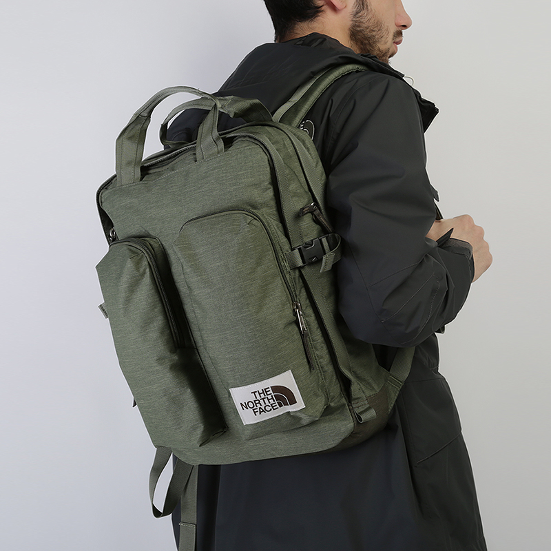 зеленый  рюкзак the north face mini crevasse 14,5l T93G8LBV9 - цена, описание, фото 1