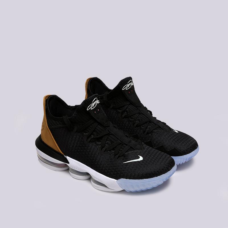 мужские чёрные  кроссовки nike lebron xvi low CI2668-001 - цена, описание, фото 2