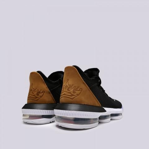 мужские чёрные  кроссовки nike lebron xvi low CI2668-001 - цена, описание, фото 3