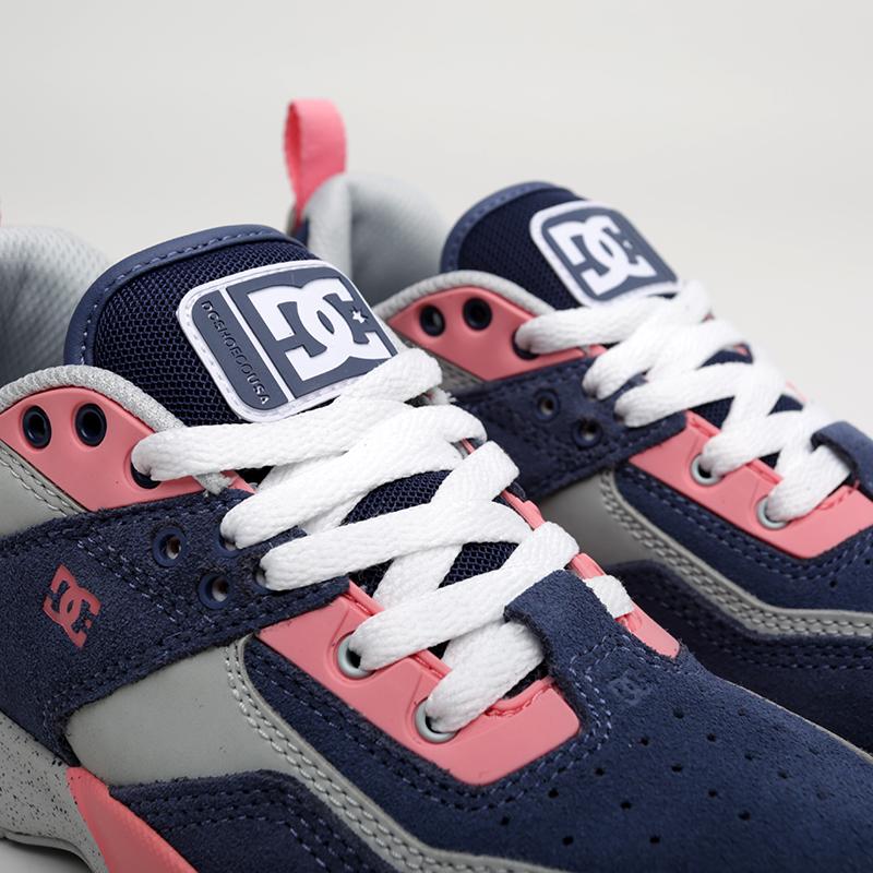 женские мультиколор  кроссовки dc shoes e.tribeka se ADJS200015-BLP - цена, описание, фото 4