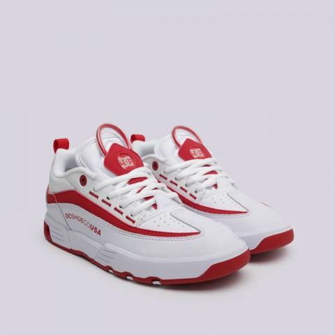 женские белые  кроссовки dc shoes legacy 98 slim ADJS200022-WWT - цена, описание, фото 2