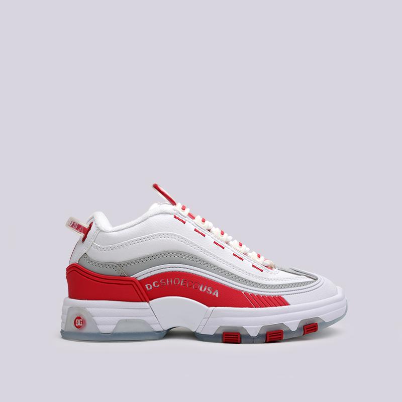 белые  кроссовки dc shoes legacy og ADJS200024-WRD - цена, описание, фото 1