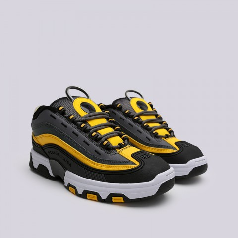 мужские серые, чёрные  кроссовки dc shoes legacy og ADYS100476-XSKY - цена, описание, фото 2