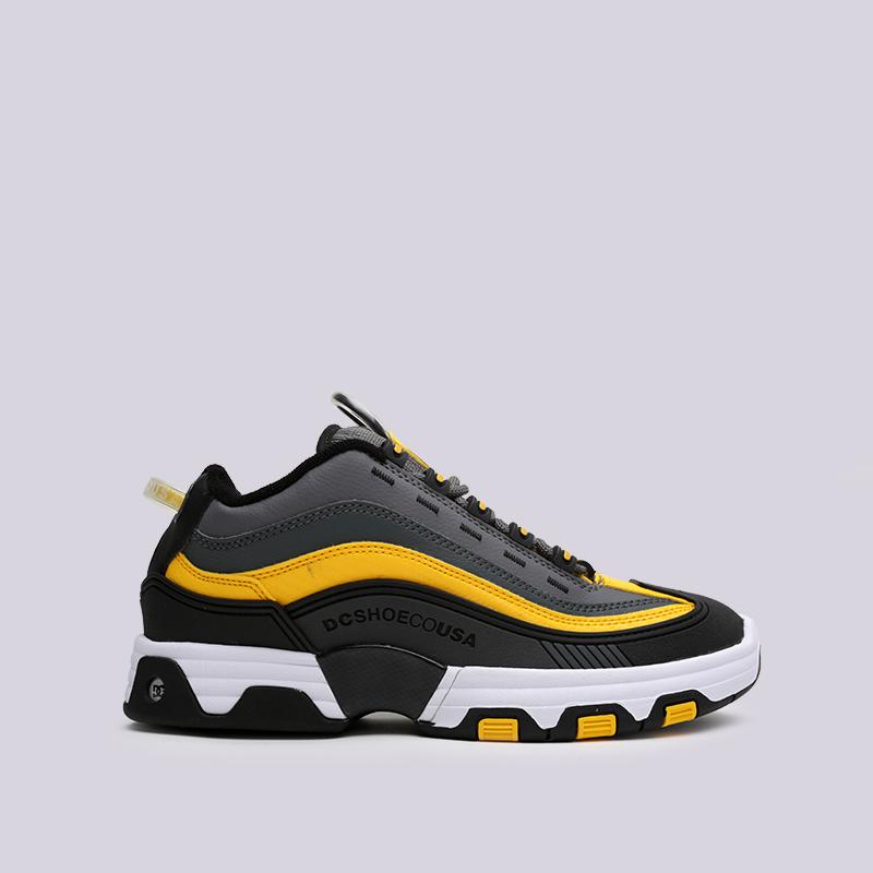 мужские серые, чёрные  кроссовки dc shoes legacy og ADYS100476-XSKY - цена, описание, фото 1