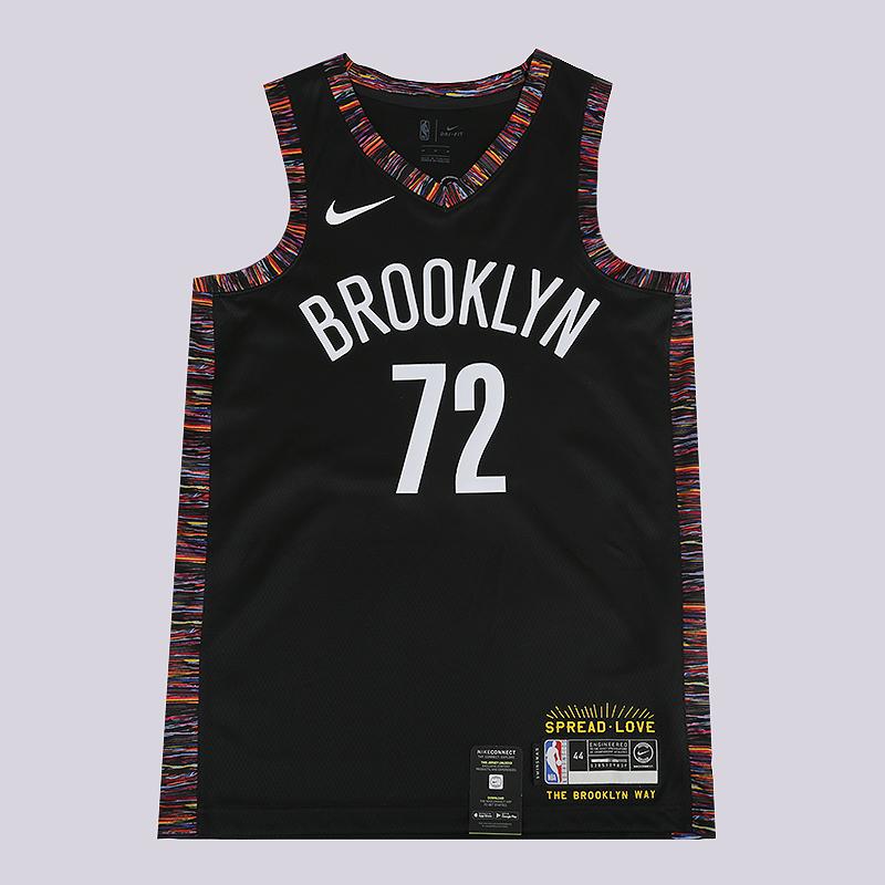 designer fashion ba757 994ea Мужская майка Brooklyn Nets City Edition 'Biggie' Swingman NBA Connected  Jersey от Nike (CD7062-010) купить по цене 8790 руб. в интернет-магазине ...