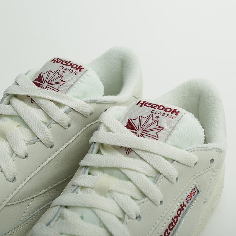 ae617152 мужские бежевые кроссовки reebok club c 85 mu DV3895 - цена, описание, фото  5