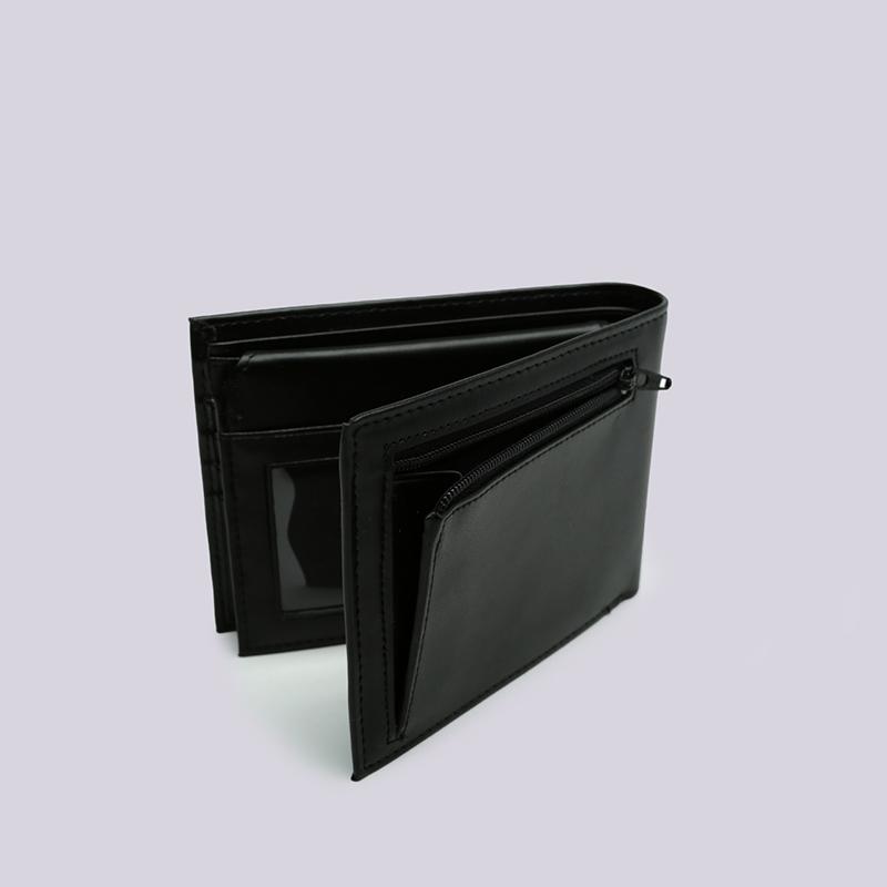 чёрный  бумажник carhartt wip leather rock-it wallet i023850-black - цена, описание, фото 3