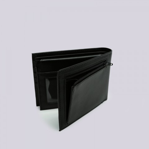 чёрный  бумажник carhartt wip leather rock-it wallet i023850-black - цена, описание, фото 3