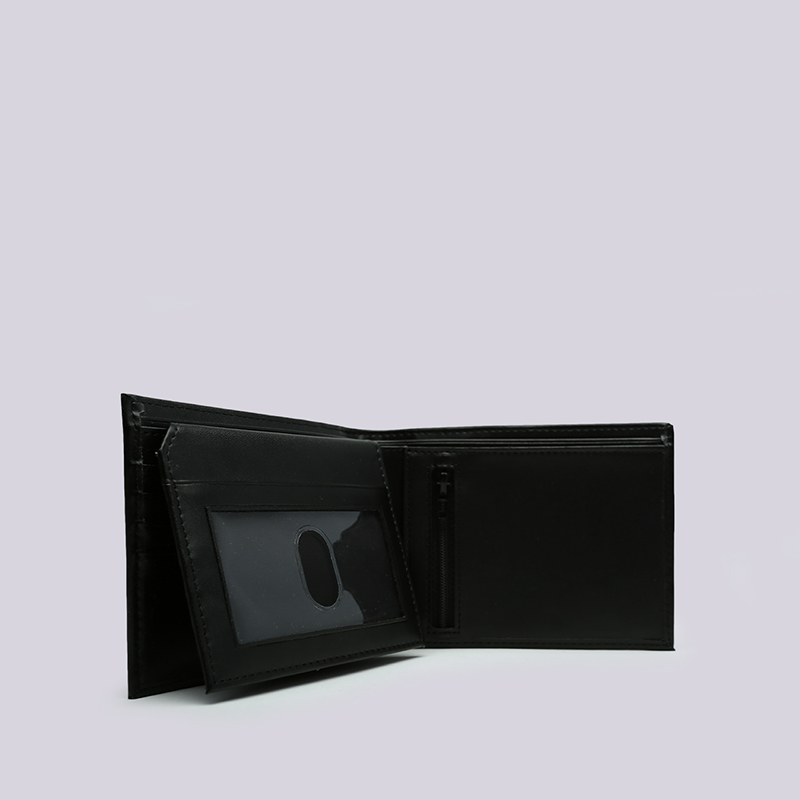 чёрный  бумажник carhartt wip leather rock-it wallet i023850-black - цена, описание, фото 4