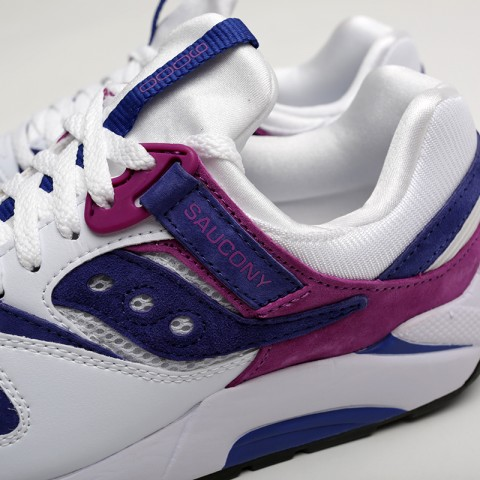 мужские белые  кроссовки saucony grid 9000 S704392 - цена, описание, фото 5