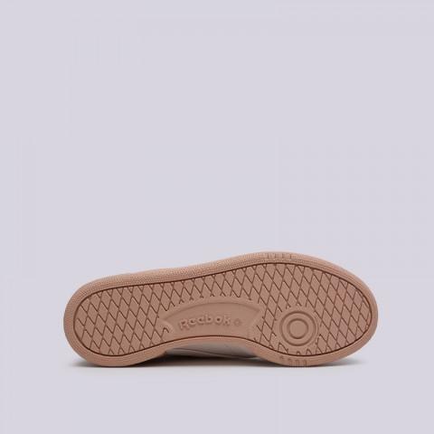 женские бежевые  кроссовки reebok club c 85 CN8644 - цена, описание, фото 2