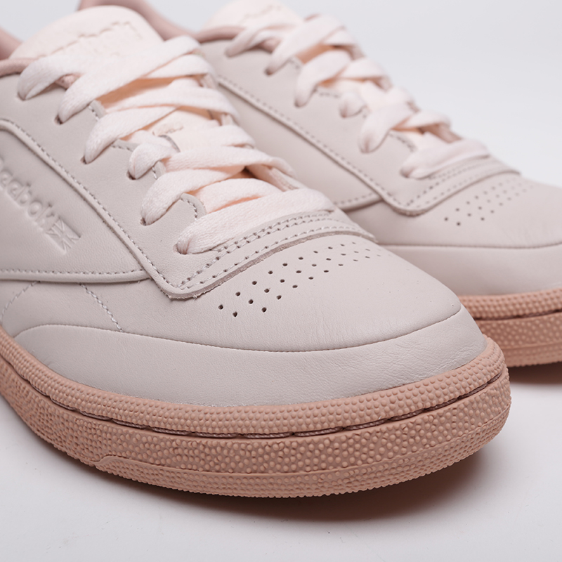 женские бежевые  кроссовки reebok club c 85 CN8644 - цена, описание, фото 5