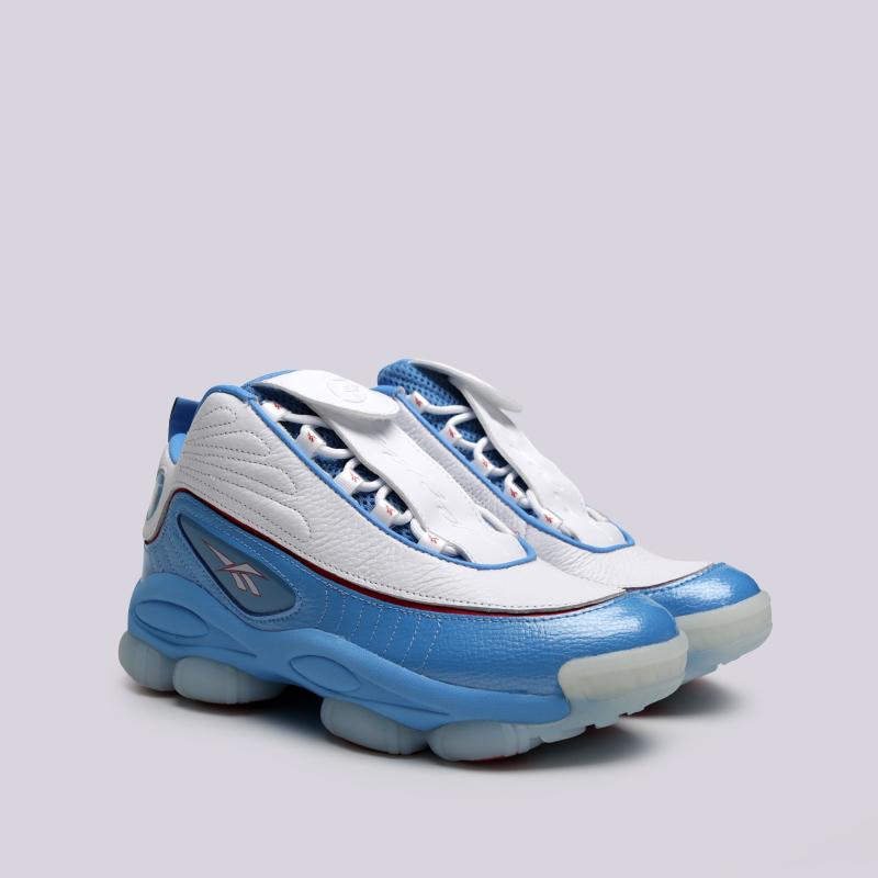 мужские белые, голубые  кроссовки reebok iverson legacy CN8405 - цена, описание, фото 2