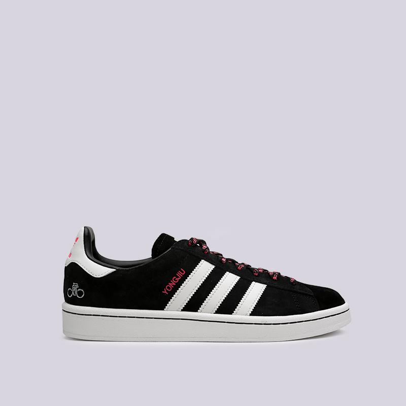 мужские чёрные  кроссовки adidas campus G27580 - цена, описание, фото 1