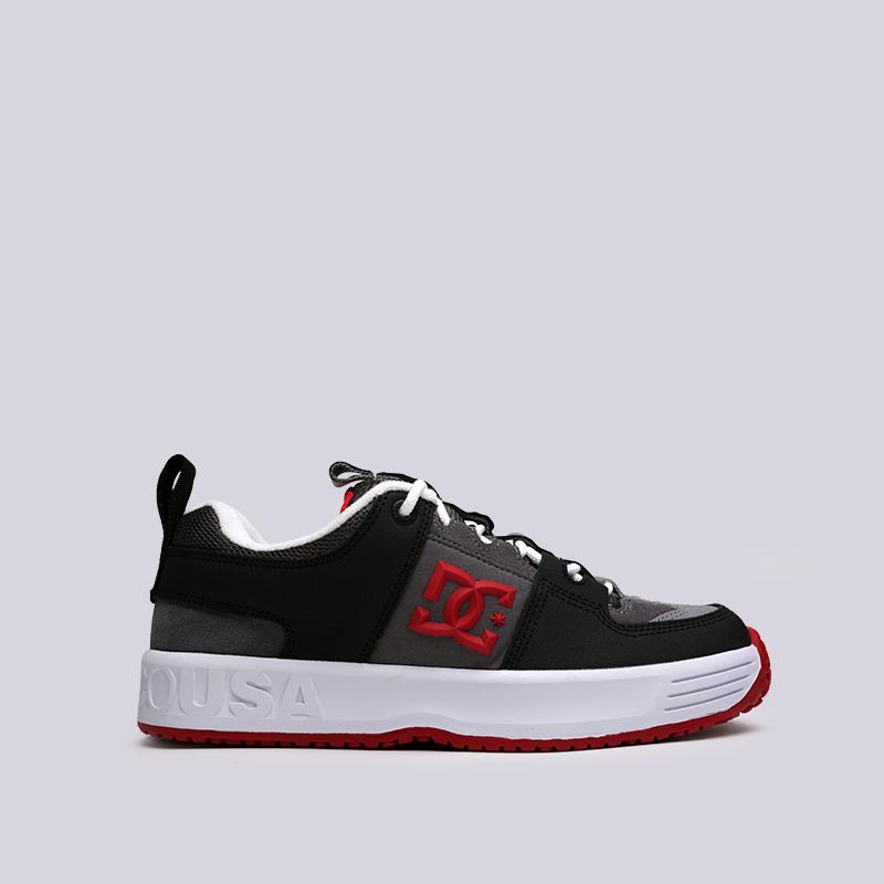 мужские чёрные, серые  кроссовки dc shoes lynx og ADYS100425-grf/grf - цена, описание, фото 1