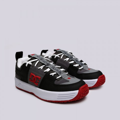 мужские чёрные, серые  кроссовки dc shoes lynx og ADYS100425-grf/grf - цена, описание, фото 3