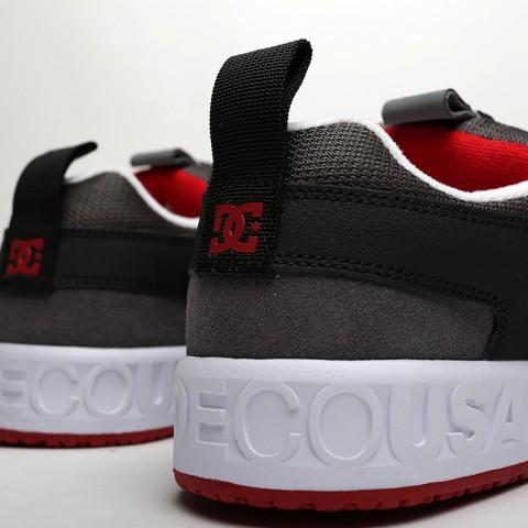 мужские чёрные, серые  кроссовки dc shoes lynx og ADYS100425-grf/grf - цена, описание, фото 4