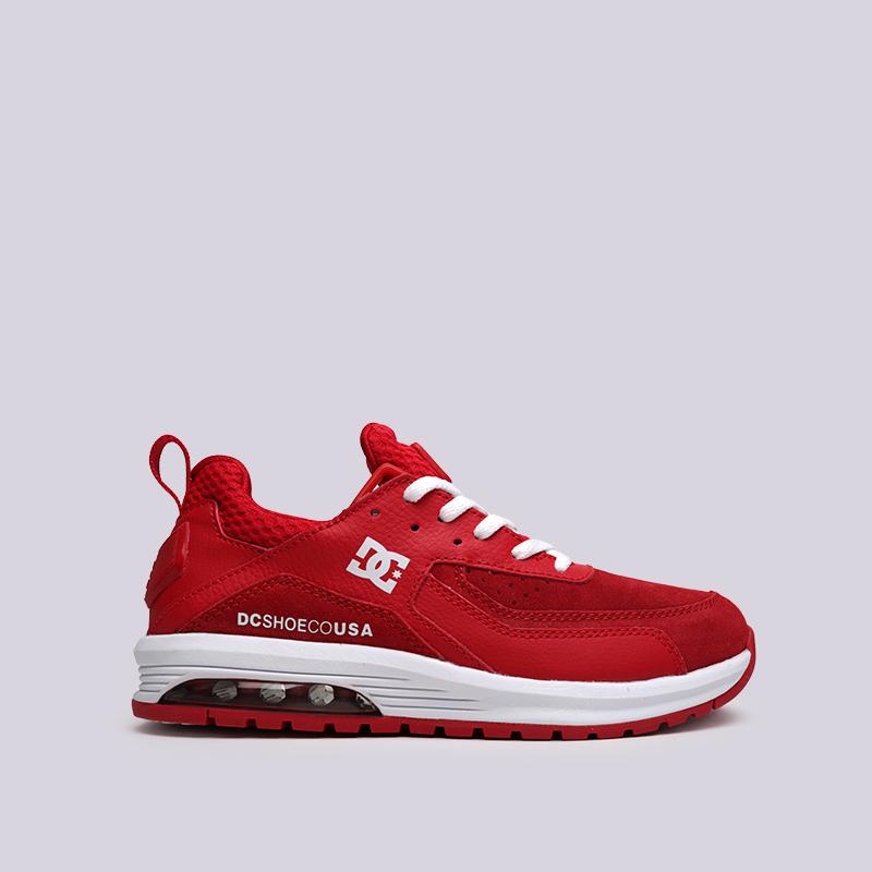женские красные  кроссовки dc shoes vandium se ADJS200026-red/red - цена, описание, фото 1