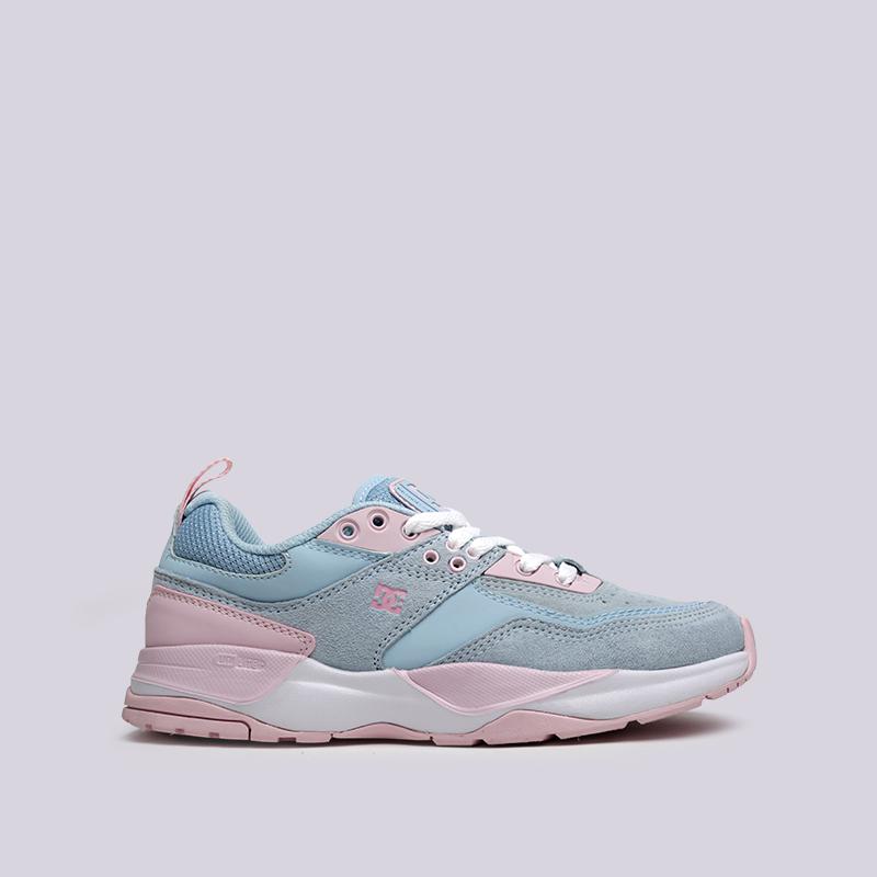 женские розовые, голубые  кроссовки dc shoes e.tribeka se ADJS200015-lbl/lbl - цена, описание, фото 1