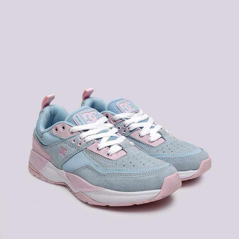 женские розовые, голубые  кроссовки dc shoes e.tribeka se ADJS200015-lbl/lbl - цена, описание, фото 3
