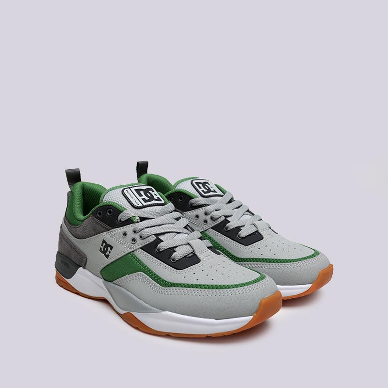 мужские серые, зелёные  кроссовки dc shoes e.tribeka ADYS700173-ggb/ggb - цена, описание, фото 3