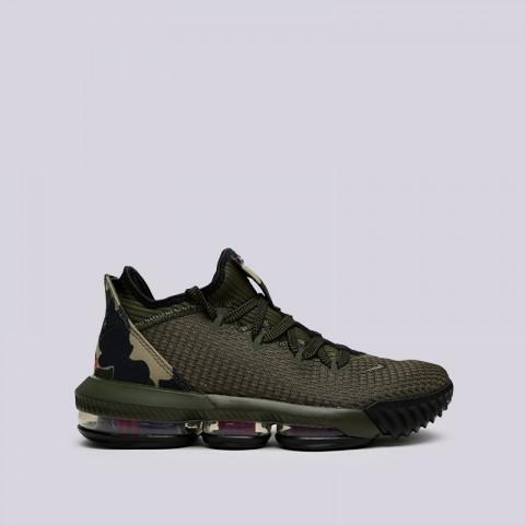 мужские зелёные  кроссовки nike lebron xvi low CI2668-300 - цена, описание, фото 1