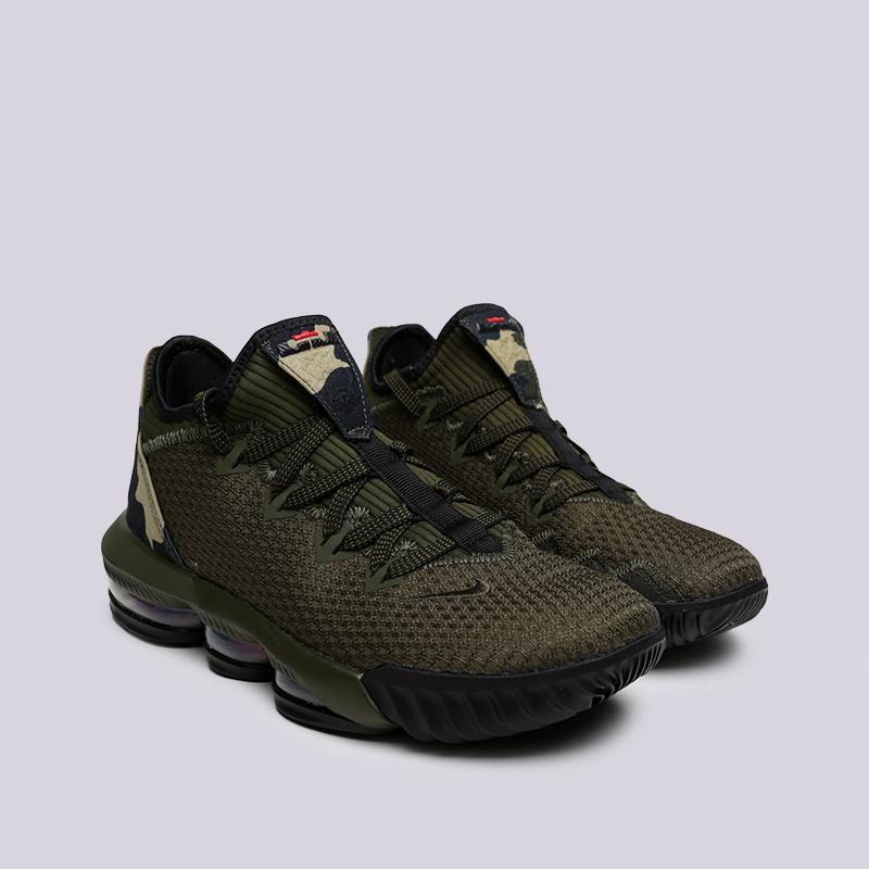 мужские зелёные  кроссовки nike lebron xvi low CI2668-300 - цена, описание, фото 3