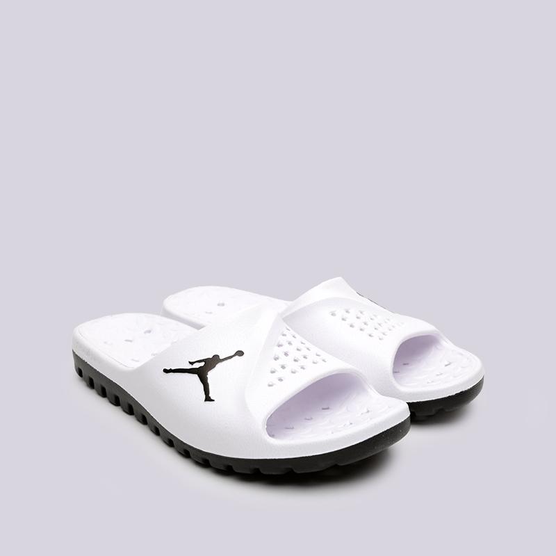 мужские белые  сланцы jordan super.fly team slide 2 grpc 881572-110 - цена, описание, фото 3