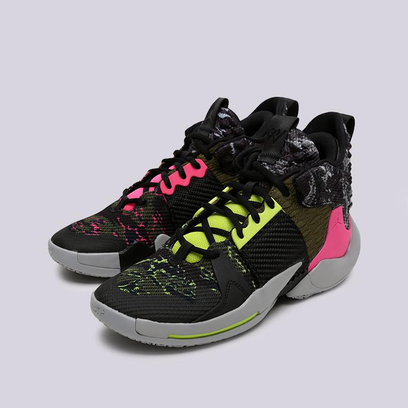 мужские чёрные  кроссовки jordan why not zero.2 AO6219-003 - цена, описание, фото 2