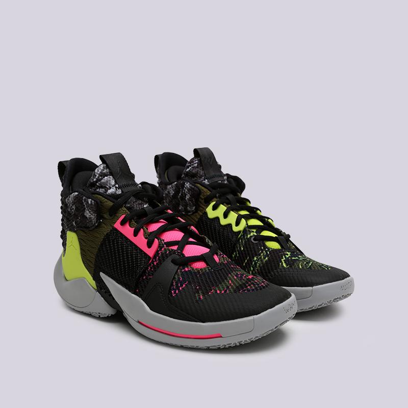 мужские чёрные  кроссовки jordan why not zero.2 AO6219-003 - цена, описание, фото 1