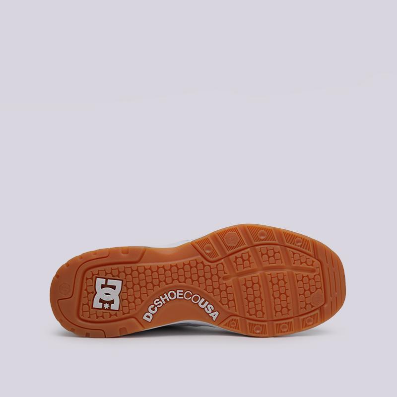 мужские белые  кроссовки dc shoes e.tribeka ADYS700173-wg5/wg5 - цена, описание, фото 2