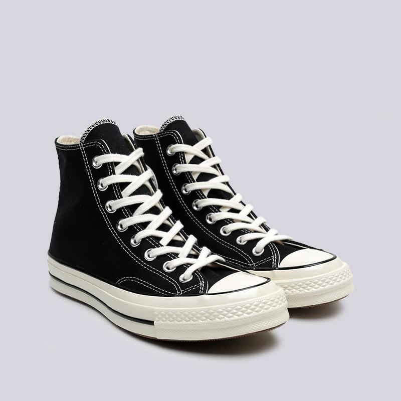 чёрные  кроссовки converse chuck 70 hi 162050 - цена, описание, фото 3