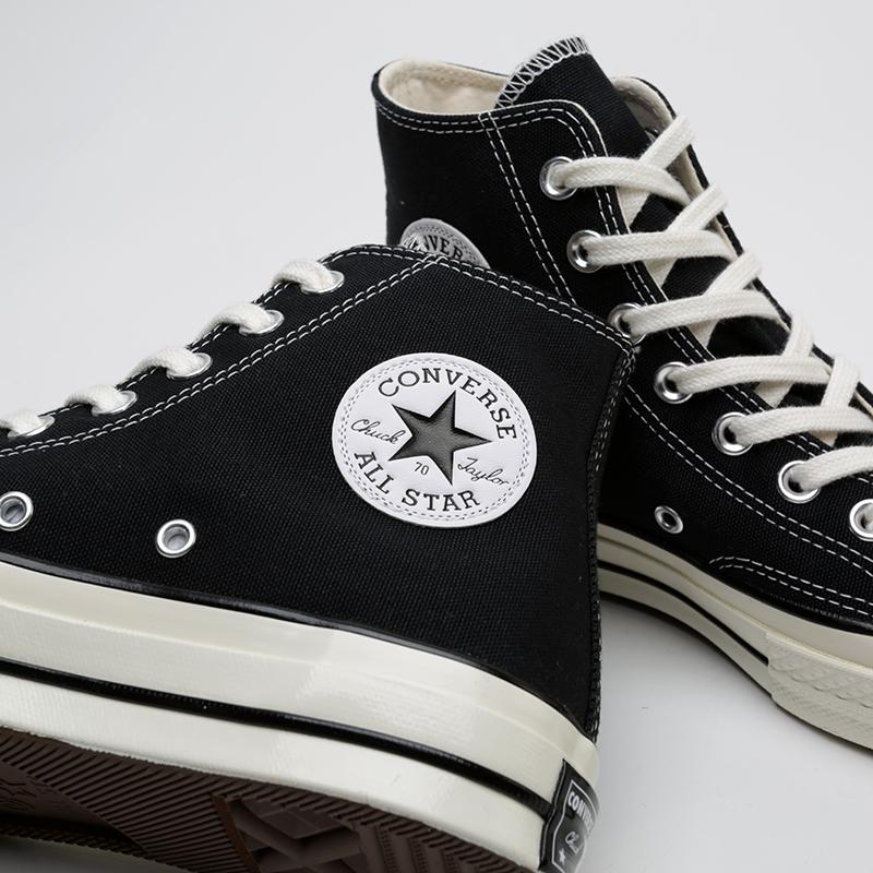 чёрные  кроссовки converse chuck 70 hi 162050 - цена, описание, фото 5