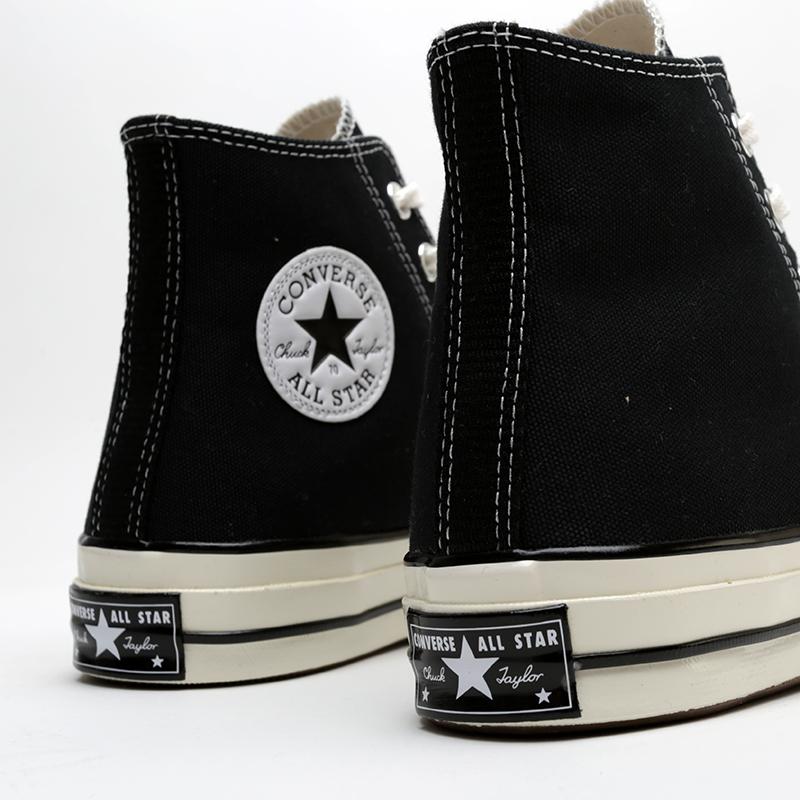 чёрные  кроссовки converse chuck 70 hi 162050 - цена, описание, фото 4