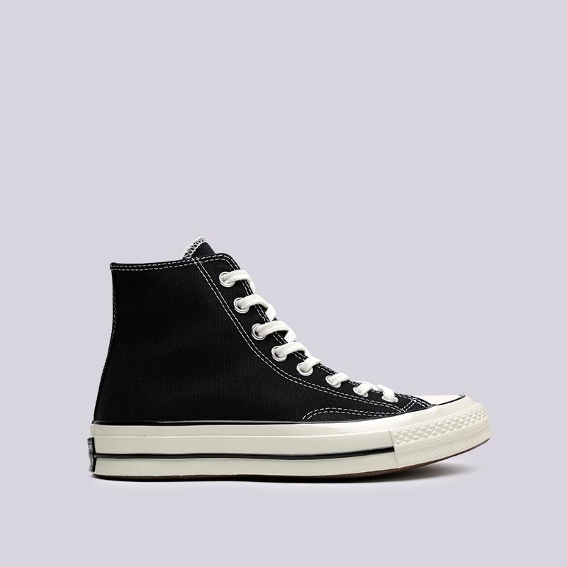 чёрные  кроссовки converse chuck 70 hi 162050 - цена, описание, фото 1