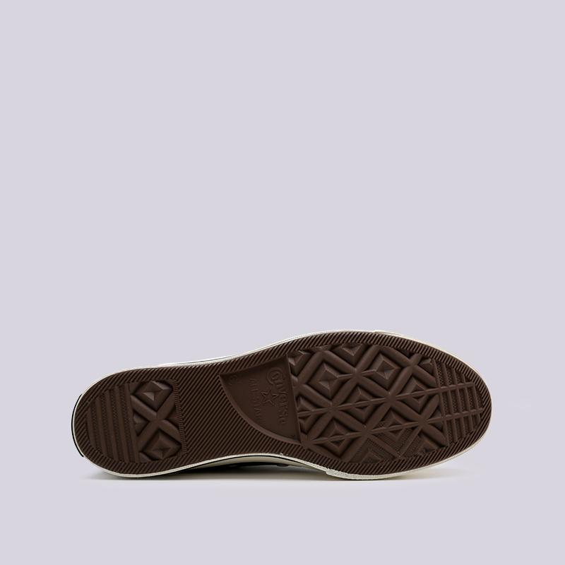чёрные  кроссовки converse chuck 70 hi 162050 - цена, описание, фото 2