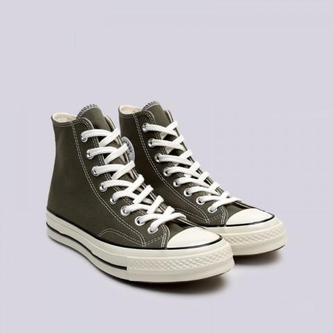 зелёные  кроссовки converse chuck 70 hi 162052 - цена, описание, фото 3