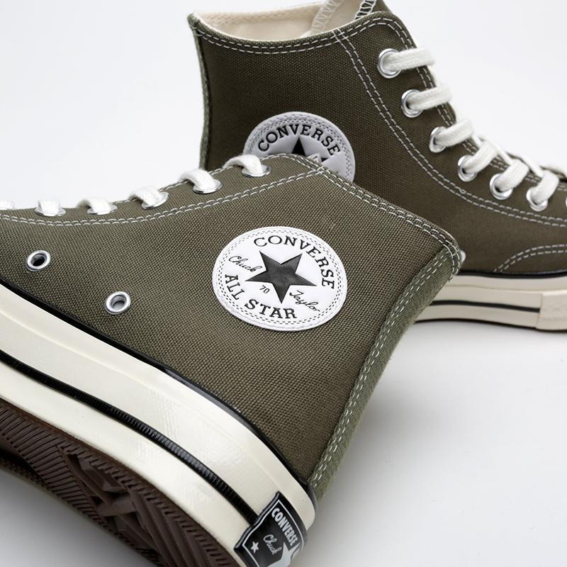 зелёные  кроссовки converse chuck 70 hi 162052 - цена, описание, фото 4