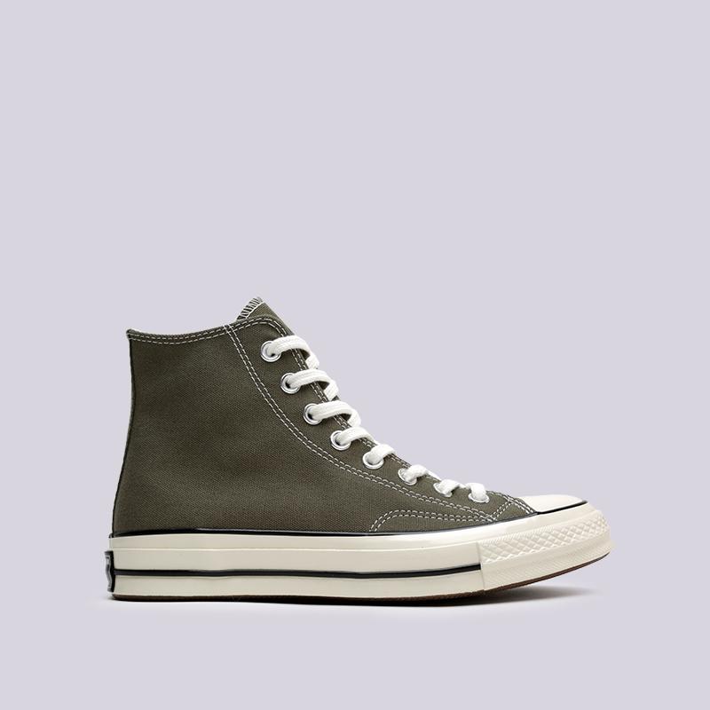 зелёные  кроссовки converse chuck 70 hi 162052 - цена, описание, фото 1