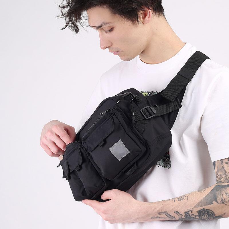 черную  сумка carhartt wip elmwood hip bag I026281-black - цена, описание, фото 6