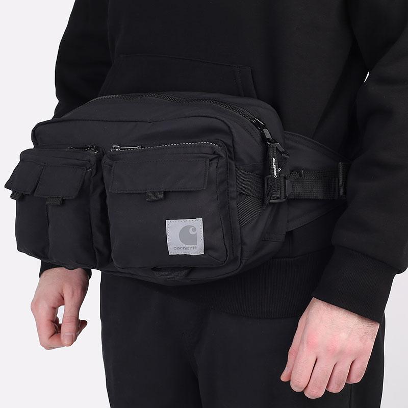 черную  сумка carhartt wip elmwood hip bag I026281-black - цена, описание, фото 1