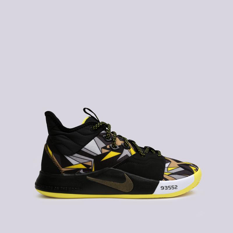 мужские чёрные  кроссовки nike pg 3 AO2607-900 - цена, описание, фото 1