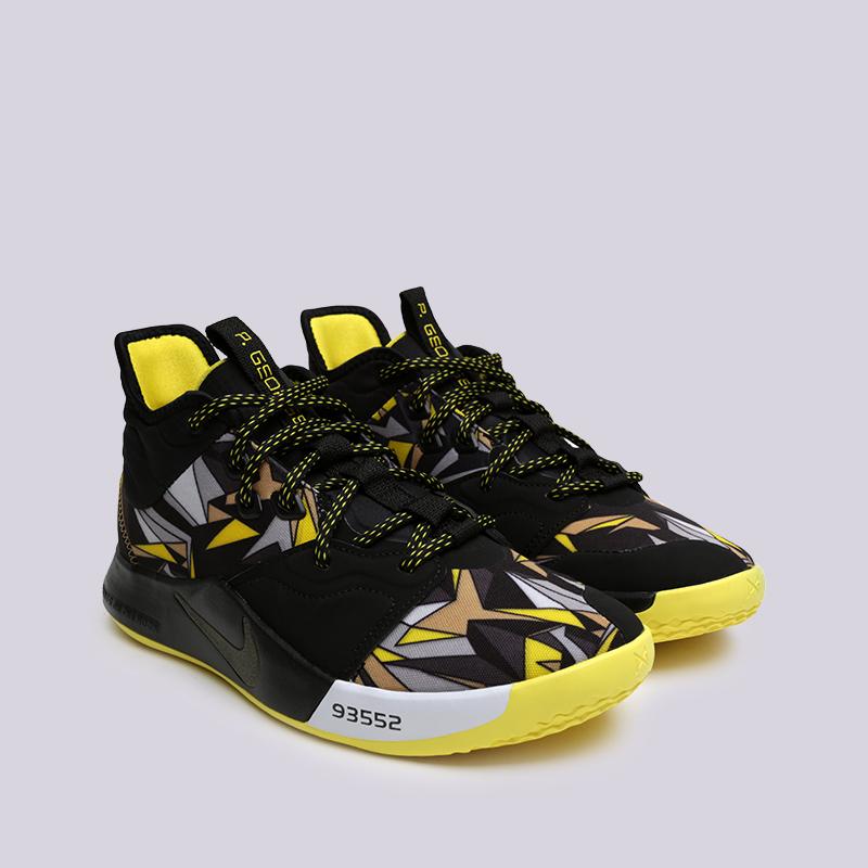 мужские чёрные  кроссовки nike pg 3 AO2607-900 - цена, описание, фото 3
